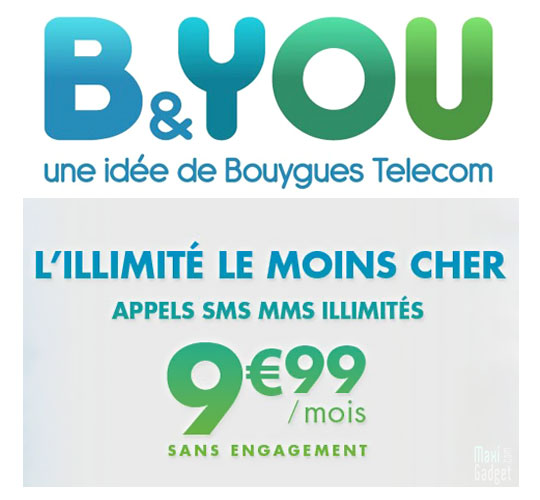 b&you moins cher opérateur en 2012 nouveaux forfaits illimités 9,99€ et 19,99€