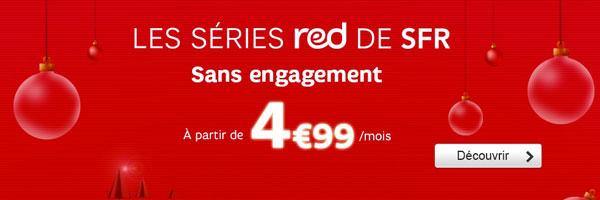 SFR RED à 4,99 euros forfait sans engagement
