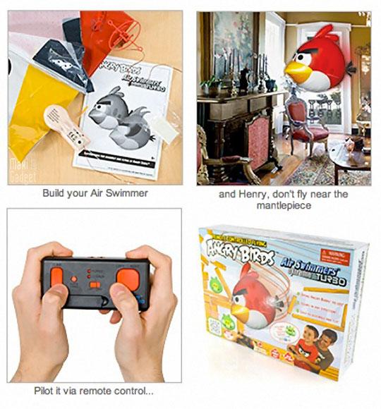 angry birds existe aussi en jouet gonflable télécommandé à distance