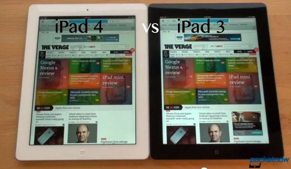 ipad 4 vs iPad 3 comparatif video (test performances tablettes apple)