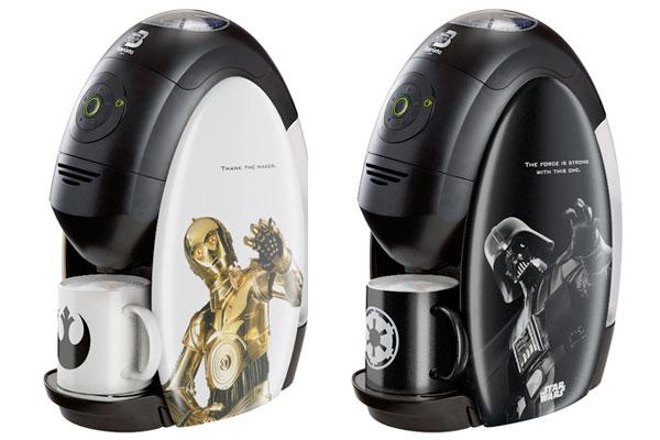 nestlé machine expresso dark vador et C3PO pour fans star wars