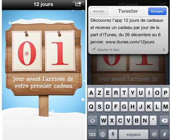 12 jours de telechargement gratuit sur itunes store pour iphone, ipad, ipod