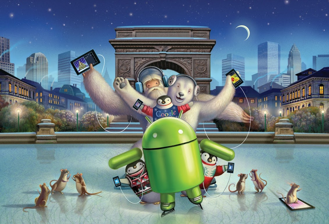 android carte noel google nexus pour android device