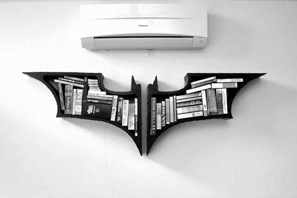 Batman Dark Knight étagère livres pour chambre geek