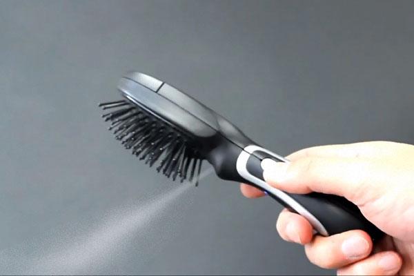 brosse à cheveux USB avec humidificateur brumisateur