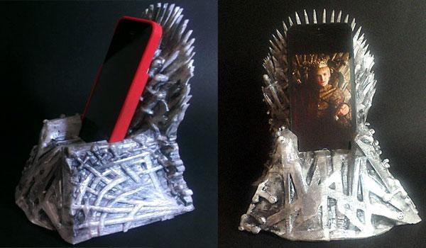 iron throne dock iphone en forme de fauteuil game of thrones