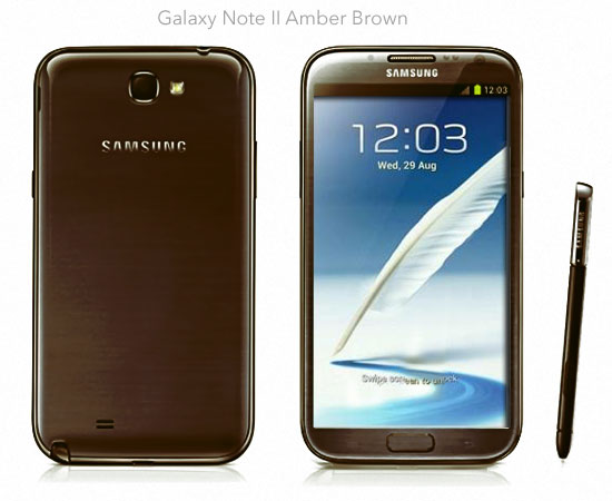 samsung galaxy note 2 marron (amber brown)