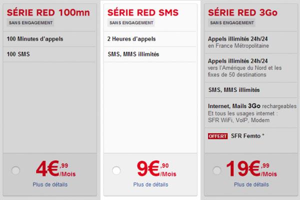 sfr red 2h passe à 4,99€ eu lieu de 9,99 à partir du 12 décembre