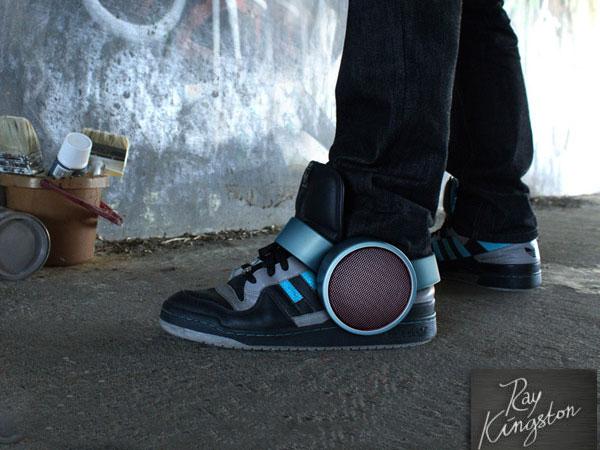 sneaker speaker haut-parleurs bluetooth pour baskets accessoire de mode 2013
