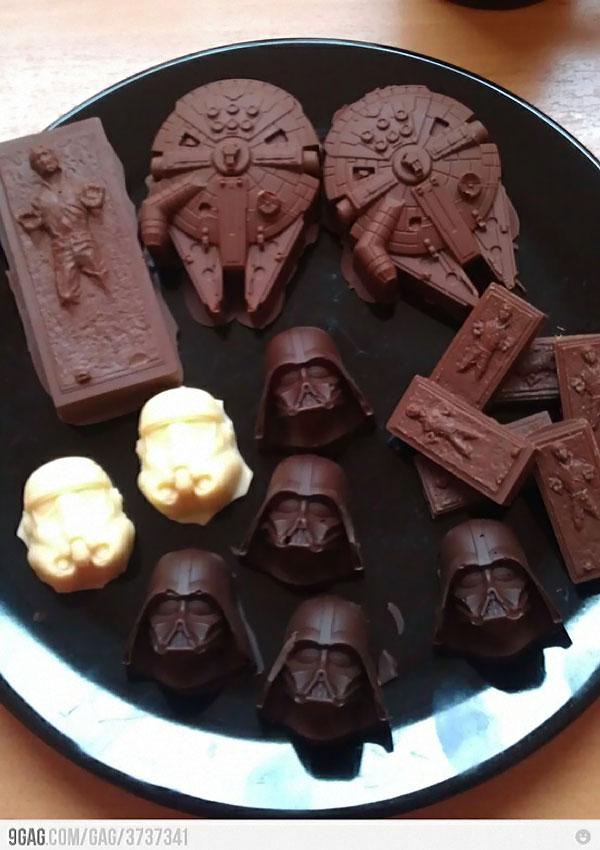 star wars chocolats noel en guise de friandises