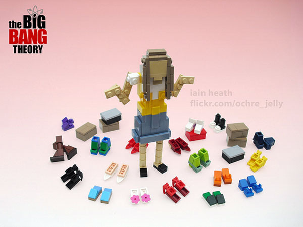 TheBigBangTheory Lego Penny The Big Bang Theory: Miniatures LEGO des personnages en images