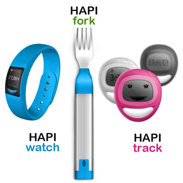 hapilabs produits connectes pour bien etre et sante HAPILABS: Produits Connectés pour Prendre Soin de sa Santé (Fourchette, Montre)