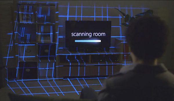 illumiroom concept console microsoft avec kinect et projecteur en video