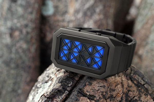 kisai adjust watch montre affichage triangles LED existe en noir