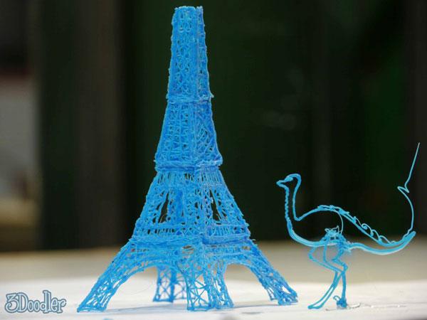 3Doodler Stylo qui imprime en 3D 3Doodler: Stylo pour modeliser maquette 3D sans ordinateur