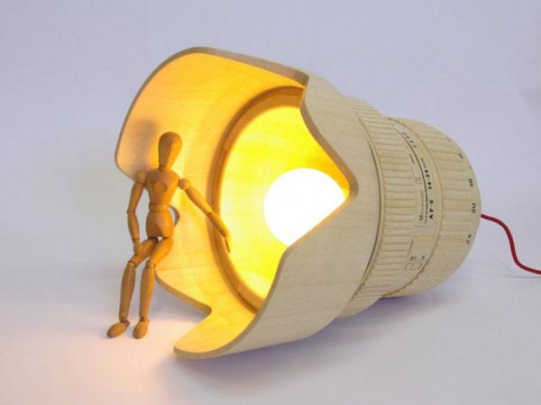 DSLR Paparazzi Lampe design Lampe DSLR Paparazzi: Plafonnier en forme dObjectif Reflex pour Photographe