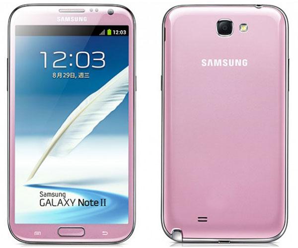 galaxy note2 pink rose st valentin Samsung Galaxy Note 2 Pink: Phablet Rose pour la St Valentin