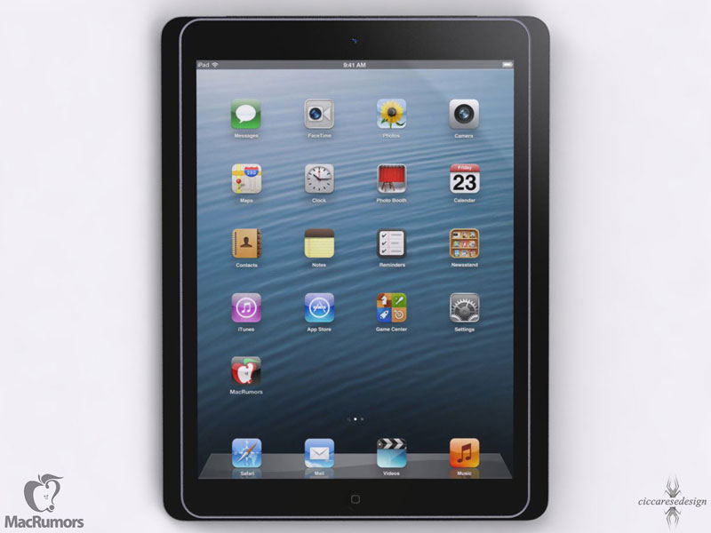 ipad5 image render Futur iPad 5 vs iPad Mini vs iPhone 5: Comparatif en images