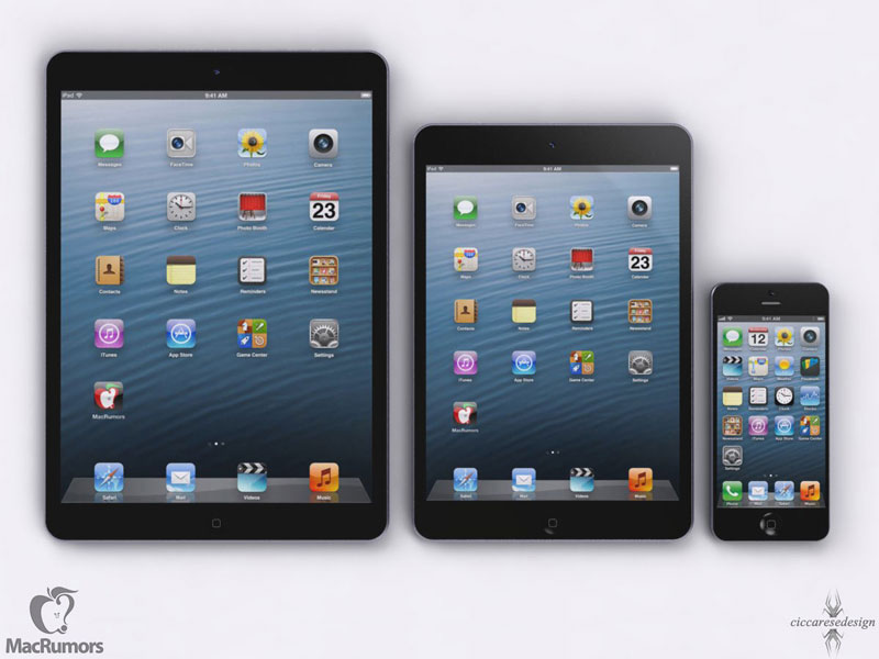 ipad5 ipadmini iphone5 Futur iPad 5 vs iPad Mini vs iPhone 5: Comparatif en images