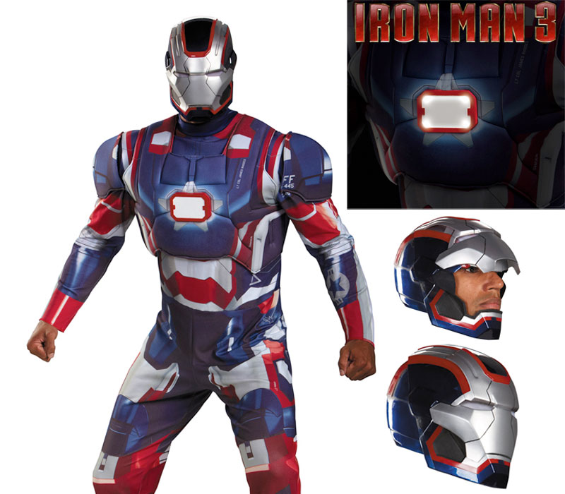iron man3 costume iron patriot homme IRON MAN 3: Armure et Costume Officiel en Vente