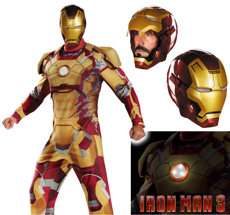 iron man3 costume mark42 homme IRON MAN 3: Armure et Costume Officiel en Vente