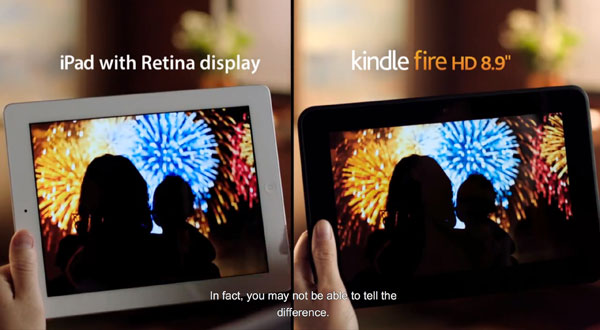 kindlefirehd vs ipad retina pub tv PUB TV: Amazon Kindle Fire HD vs Apple iPad Retina (Video)