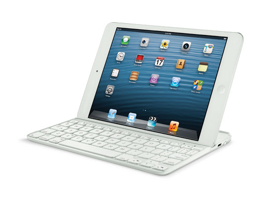 logitech ultrathin keyboard clavier ipad mini blanc