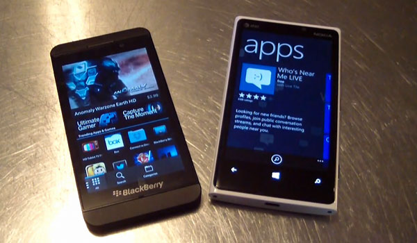 nokia lumia 920 vs blackberry z10 comparaison Test Comparatif Video: Blackberry Z10 vs Nokia Lumia 920