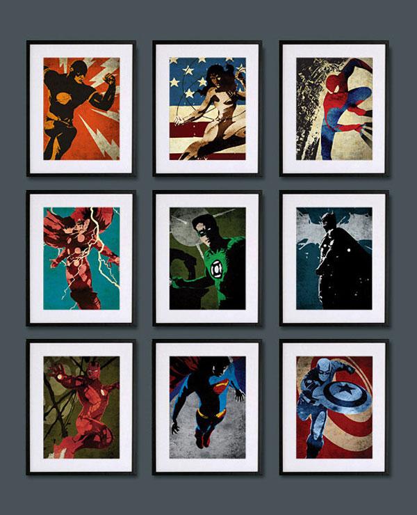 Retro Superhero Art: MaxiGadget • Superheroes Vintage Art Posters
