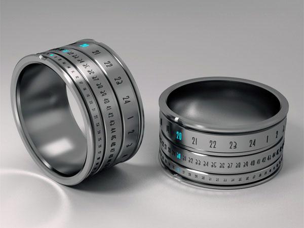 ring clock montre dans un anneau objectif photo