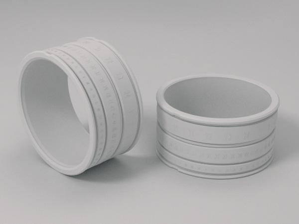 ring clock concept de montre dans une bague avec un design objectif photo