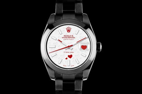 ROLEX datejust I LOVE YOU montre de luxe pour la fete des amoureux