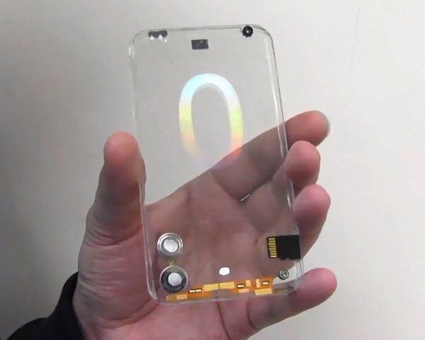 smartphone transparent polytron demo video