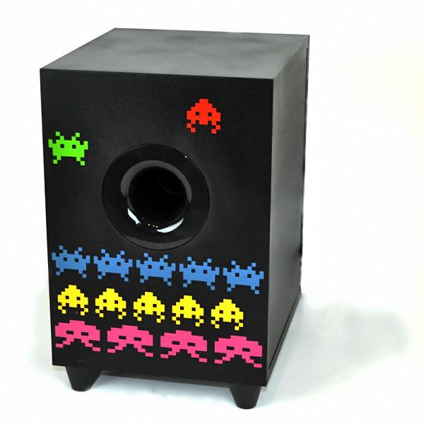 space invaders caisson de basse couleur noir
