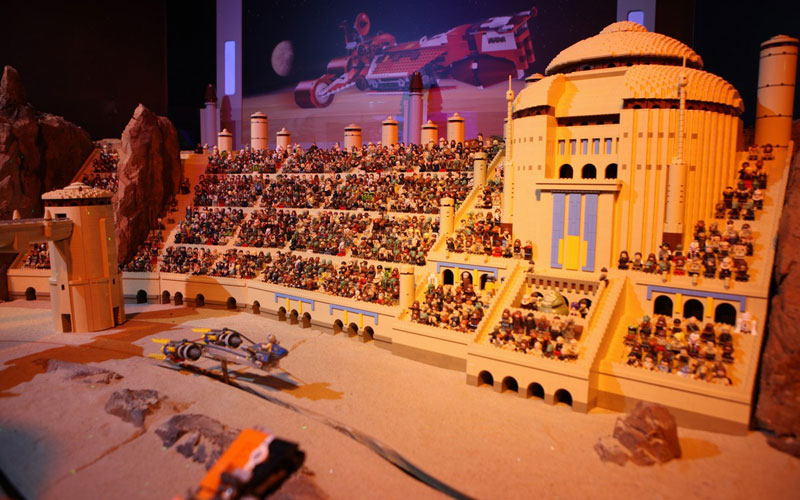 star wars univers lego miniland 01 Univers Star Wars: Incroyable Réplique avec 250.000 LEGO