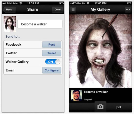 walking dead appli iphone pour devenir zombie Walking Dead Yourself: Devenez un Zombie avec iPhone (Gratuit)