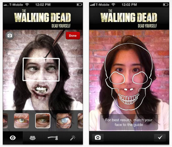 walking dead iphone transformer en zombie Walking Dead Yourself: Devenez un Zombie avec iPhone (Gratuit)