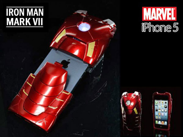 IRON MAN3 iPhone5 Case MarkVII Coque Collector iPhone 5 en Super Héros avec la Coque IRON MAN Mark VII (Collector)