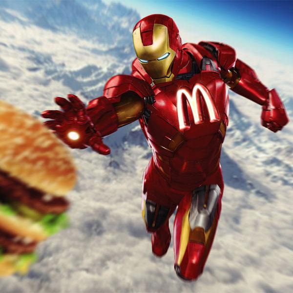 sponsors pour les super héros ! Superhero-IronMan-McDonald