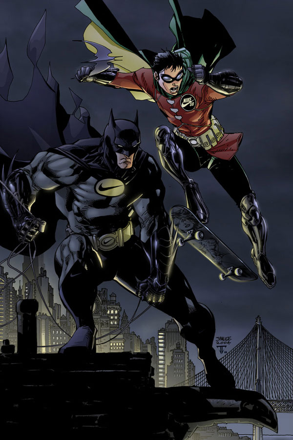 sponsors pour les super héros ! Superheros-Batman-Robin-Nike