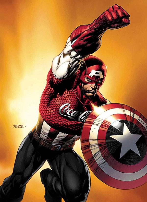 sponsors pour les super héros ! Superheros-Captain-America-CocaCola