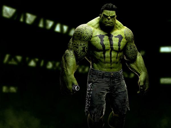 sponsors pour les super héros ! Superheros-Hulk-Monster-Energy-Drink