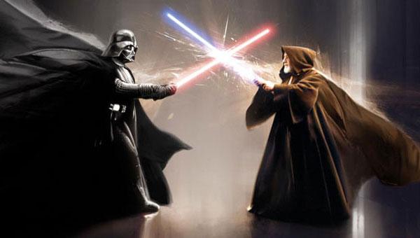 Star Wars Wallpaper Laser Fight Maxigadgetcom