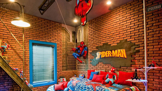 chambre-geek-spiderman