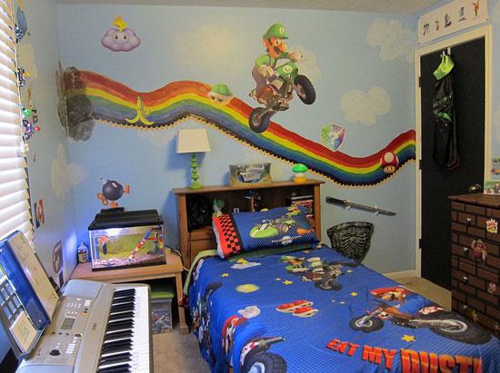 chambre geek super mario 15 Magnifiques Chambres Geek aux couleurs de vos Super Héros