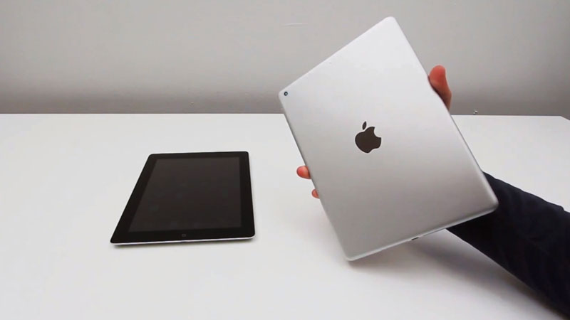 ipad5 face ipad4 comparaison video Comparatif Video: Nouvel iPad 5 vs iPad 4: Plus Compact Plus Fin