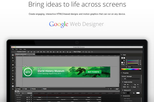google-web-design-logiciel-gratuit-creation-site