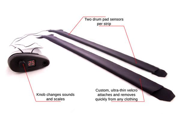 DrumPants Kit de Musique Portable pour Vetement DrumPants transforme tout Vêtement en Synthétiseur (Video)