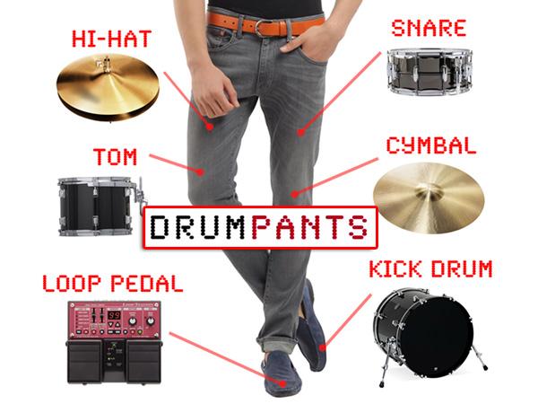 DrumPants pour jouer de la musique sur ses vetements DrumPants transforme tout Vêtement en Synthétiseur (Video)
