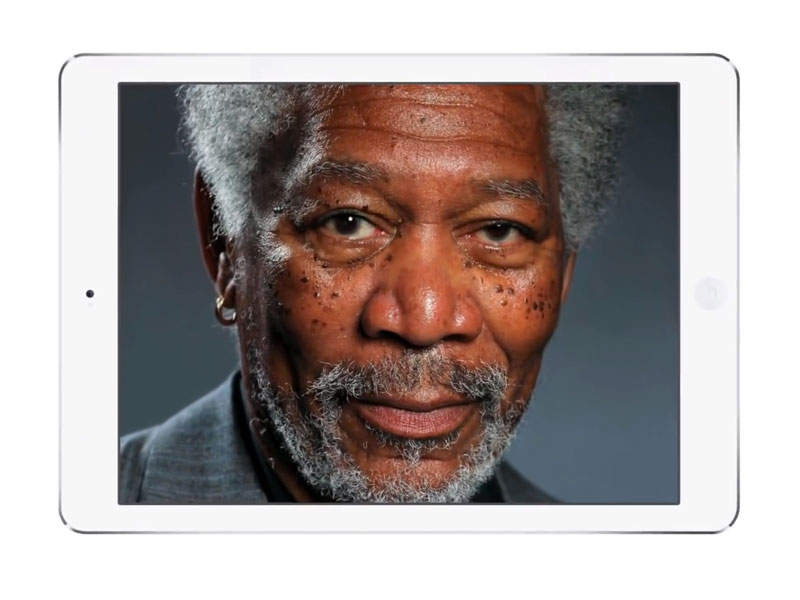 dessiner portrait morgan freeman sur ipad air facile iPad: Il peint un portrait de Morgan Freeman plus vrai que nature (video)